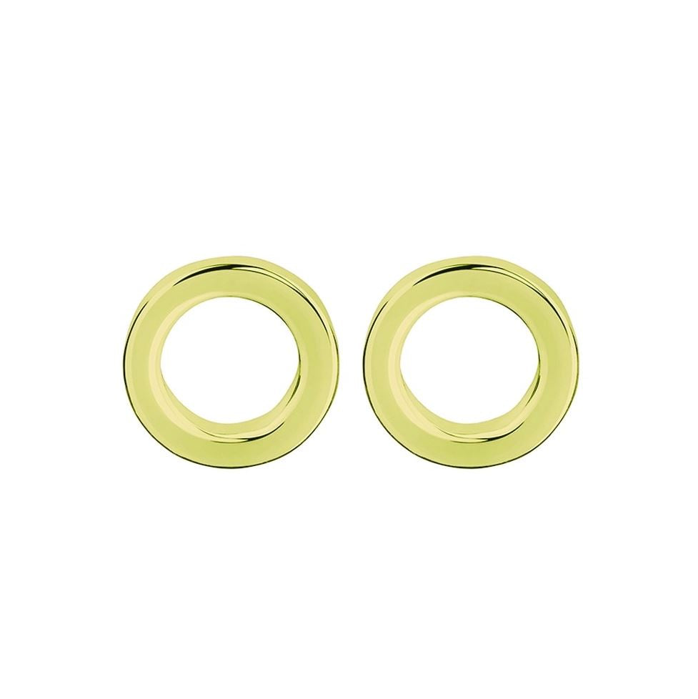 Open Circle Studs, Sterling Gold