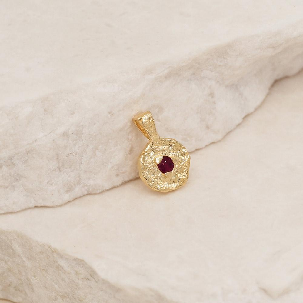 By Charlotte January Garnet Birthstone Pendant