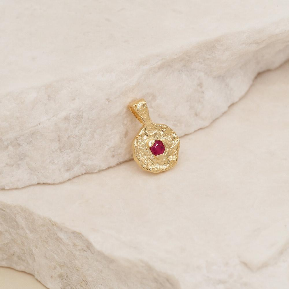 By Charlotte July Ruby Birthstone Pendant