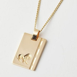 leo star sign necklace, reliquia gold