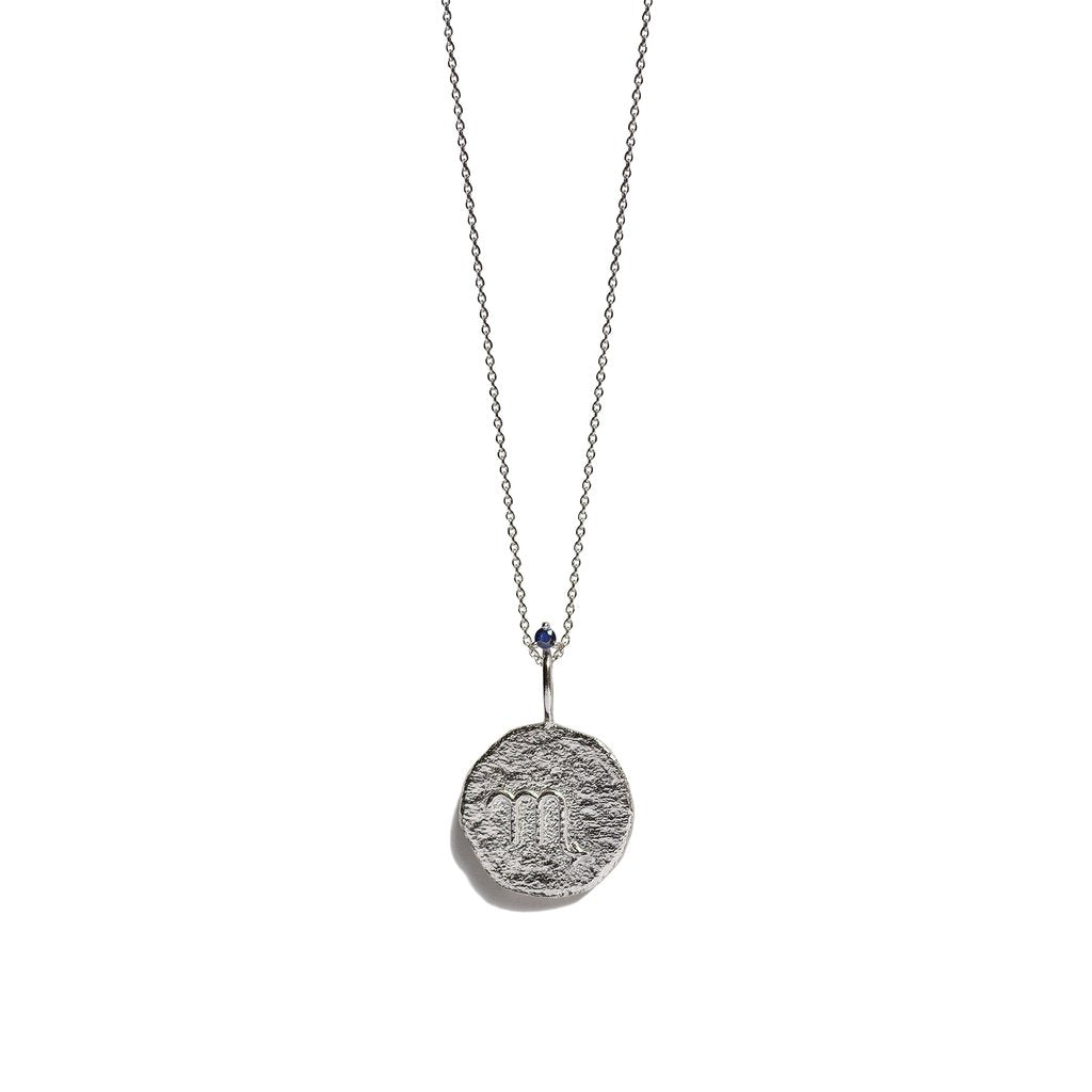 SCORPIO, The Silver Zodiac Necklace By Aletheia & Phos