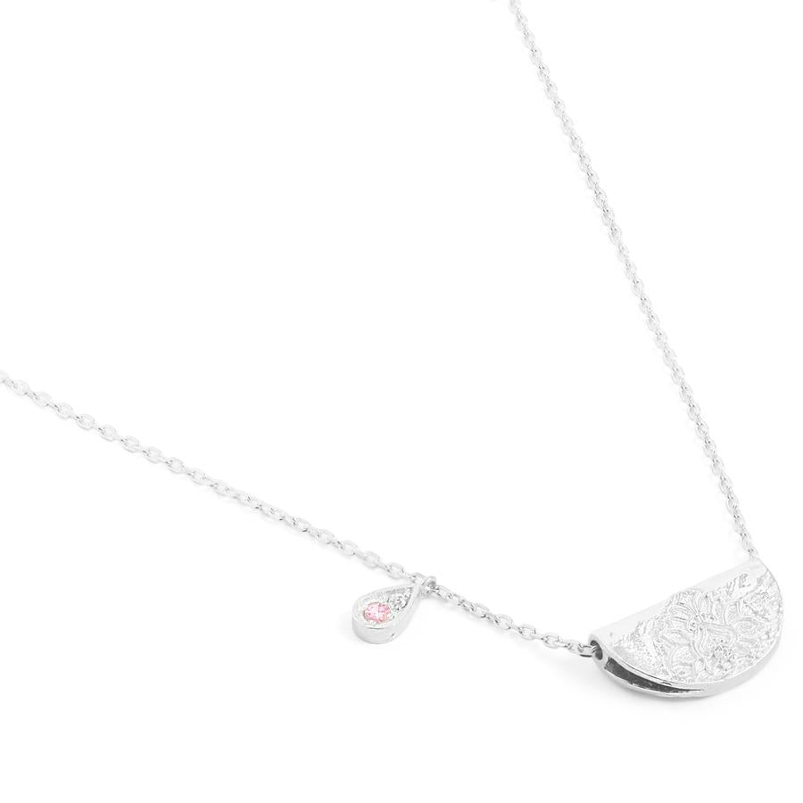 Silver Radiate Your Light Necklace - October