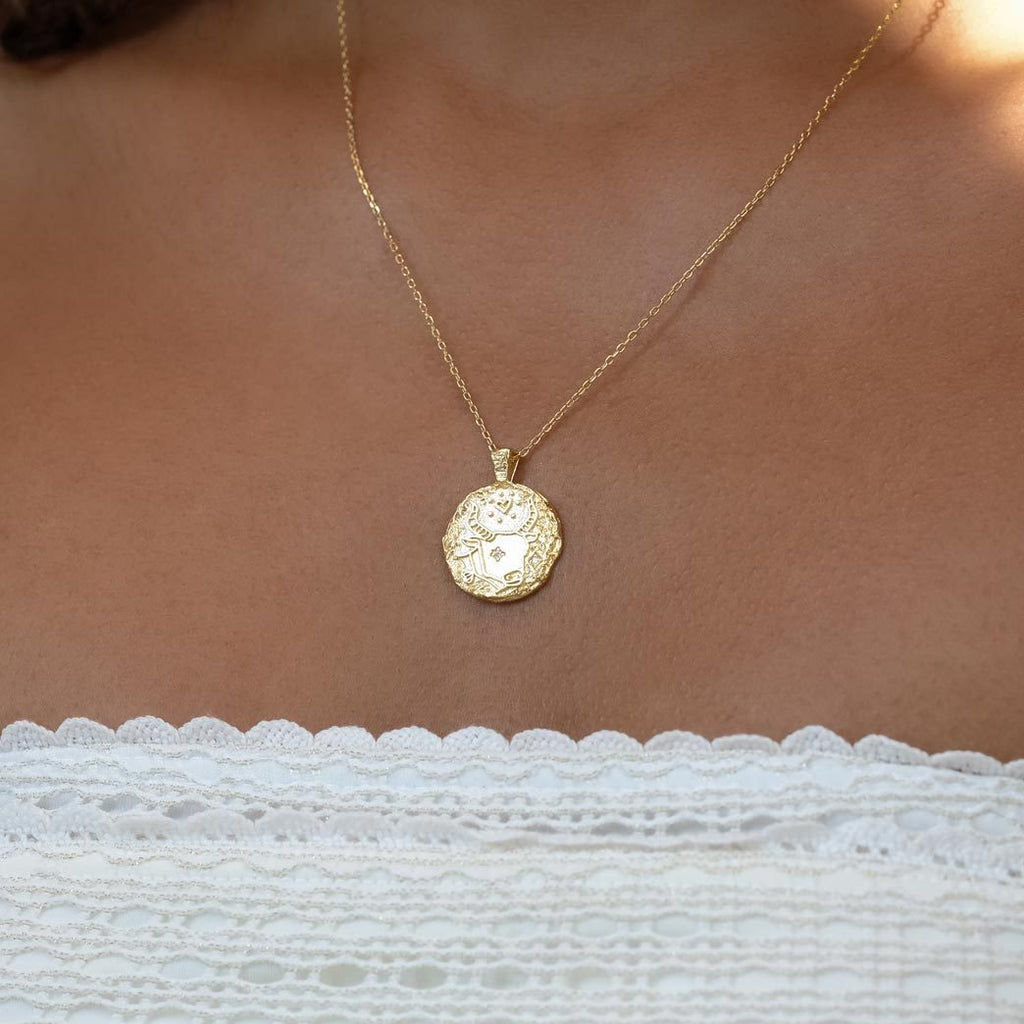 By Charlotte Taurus Zodiac Necklace, Gold