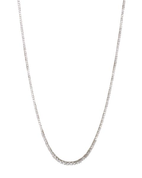 Luv Aj Ascending Ballier Tennis Necklace, Silver