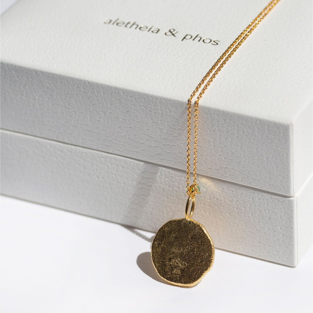 SCORPIO, The Gold Zodiac Necklace By Aletheia & Phos