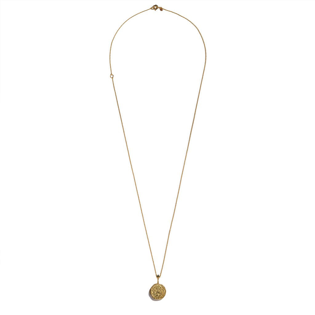 VIRGO, The Gold Zodiac Necklace By Aletheia & Phos