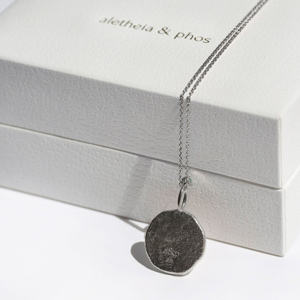 AQUARIUS, The Silver Zodiac Necklace By Aletheia & Phos