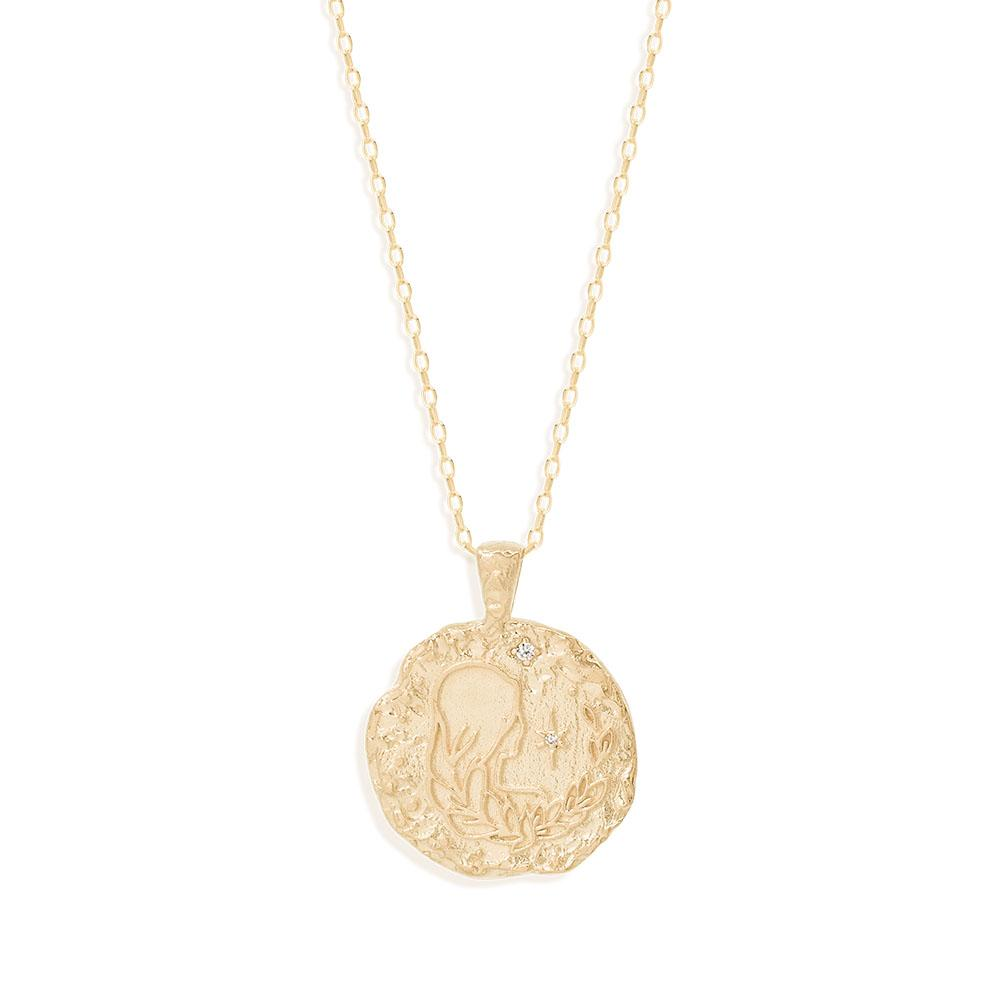 By Charlotte Virgo Zodiac Necklace, Gold