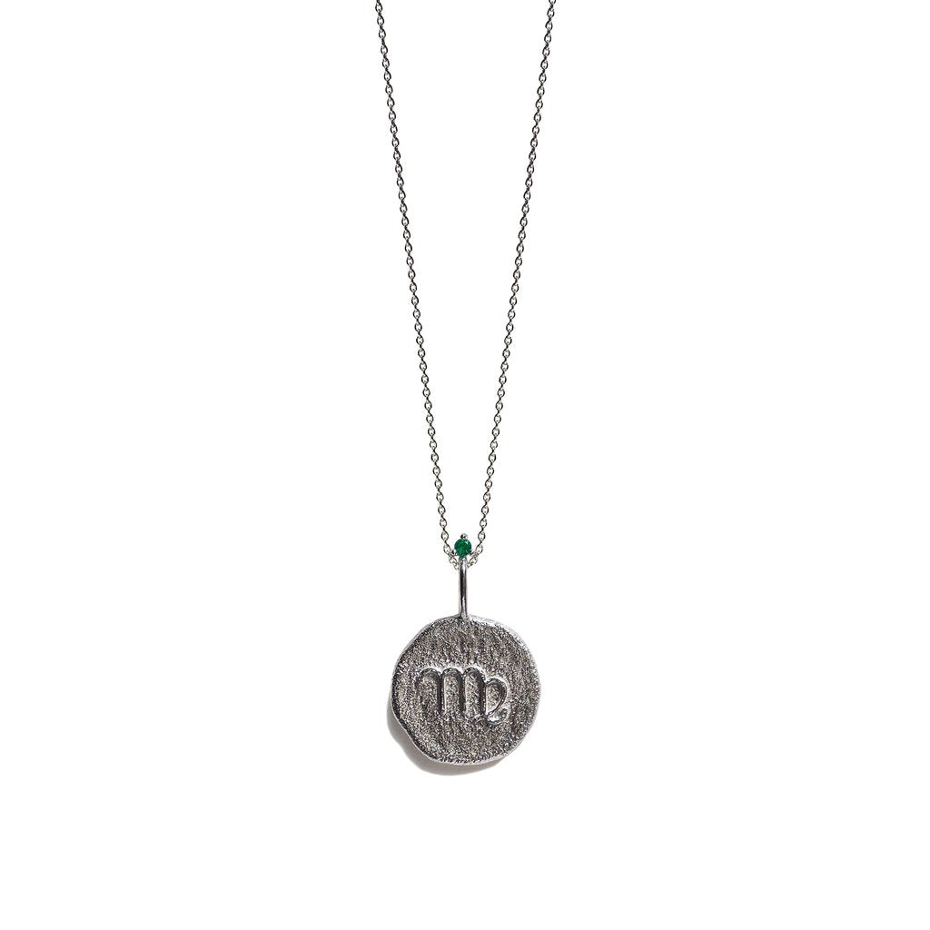 VIRGO, The Silver Zodiac Necklace By Aletheia & Phos