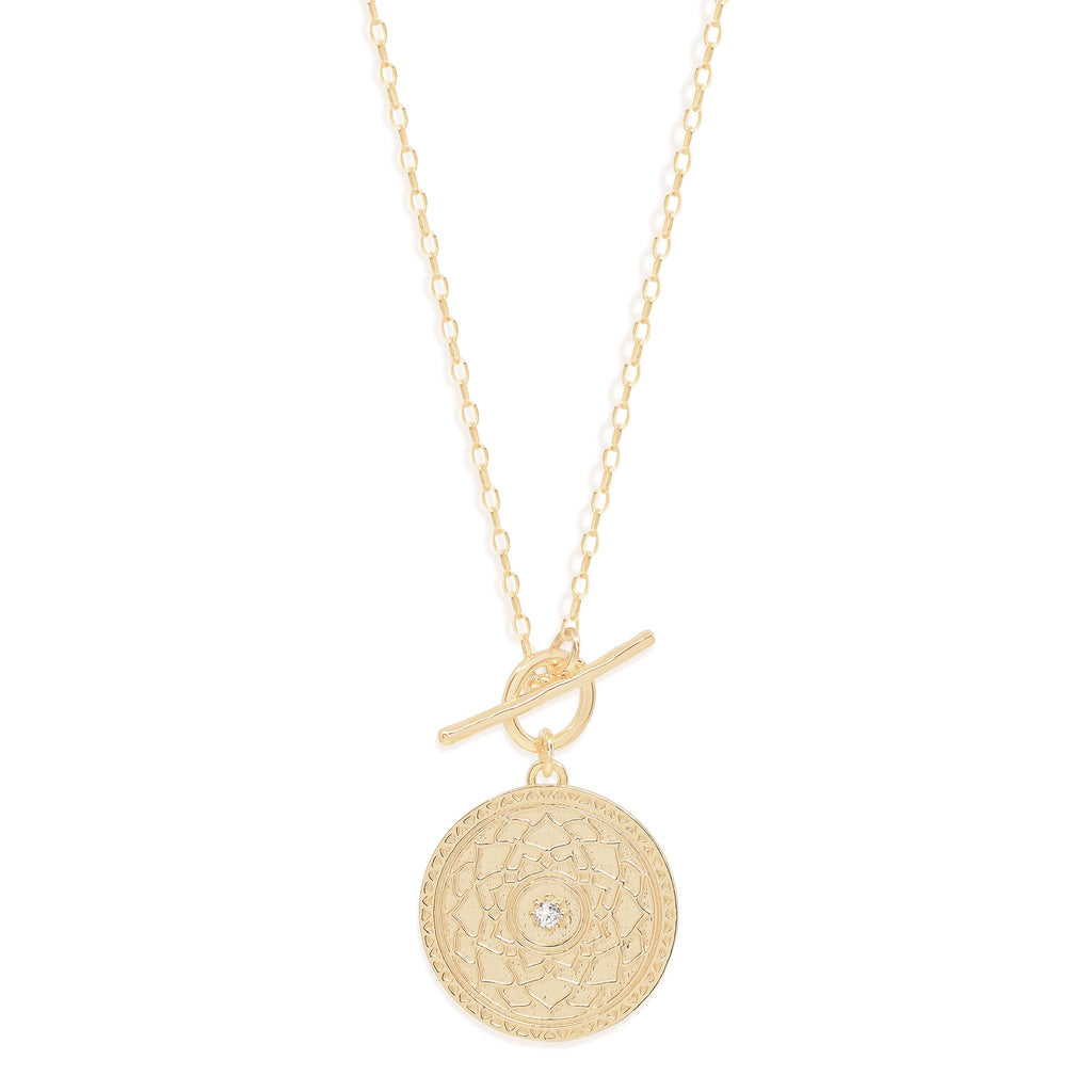 By Charlotte Gold A Thousand Petals Fob Necklace