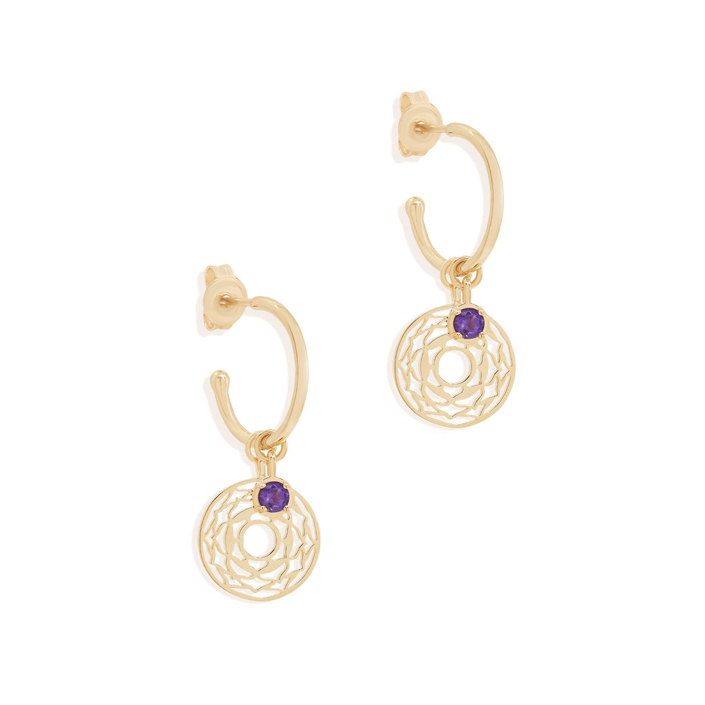 By Charlotte Gold I Am Divinely Grounded, Crown Chakra Hoops