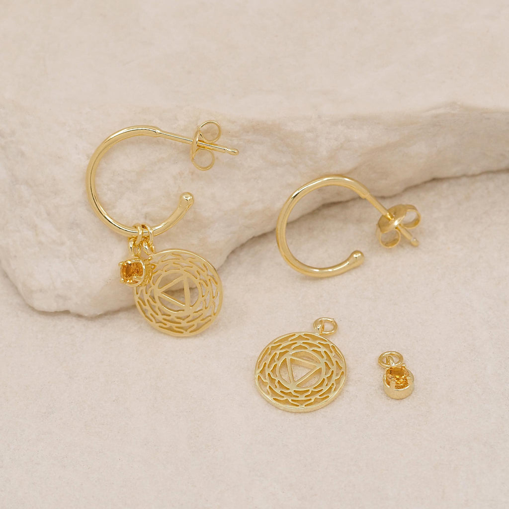 By Charlotte Gold I Am At Peace, Solar Plexus Hoops