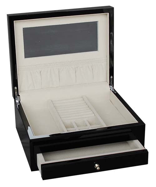 Lacquered Black Jewellery Box