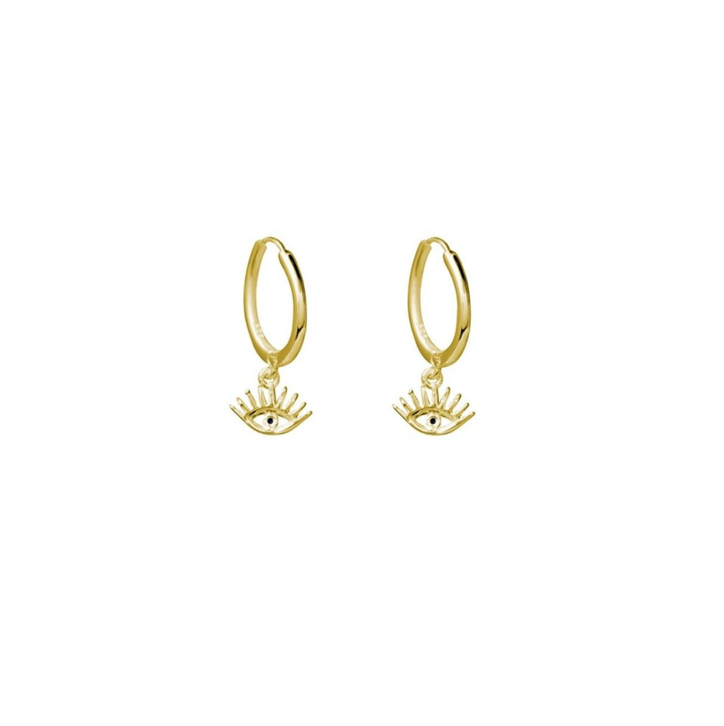 Eye Spy Earrings, Gold