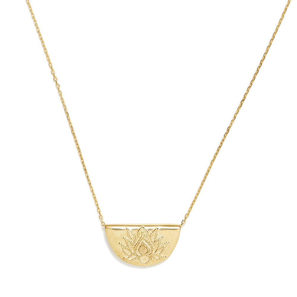 By Charlotte Lotus Short Necklace, Gold