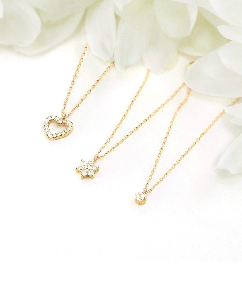 By Charlotte 14K Gold Eternal Love Diamond Necklace