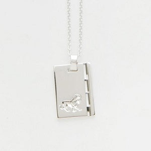 leo star sign necklace, reliquia silver