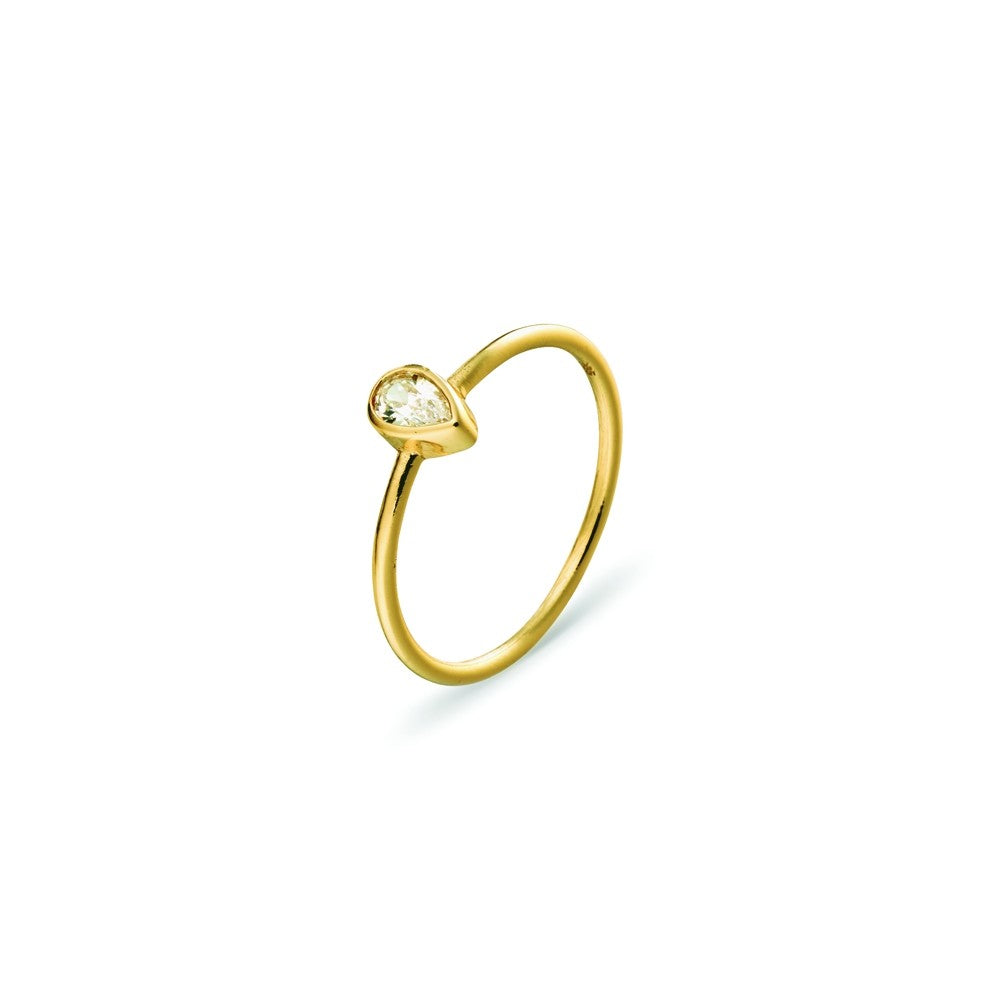 Topaz Gold Love Ring