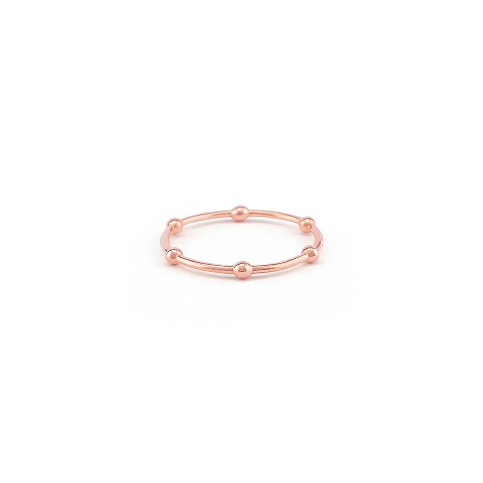 By Charlotte Radiant Ring, Rose Gold