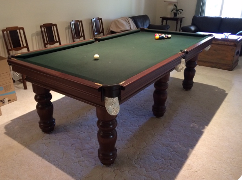 Refurbished 8' X 4' Dynamic Grand Billiard Table