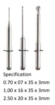 Wieland Mini Diamond coated Milling burs