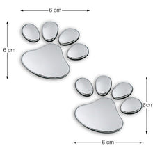 Load image into Gallery viewer, 2pcs/ Lot Stylish Silver Funny Paw Print Stickers
