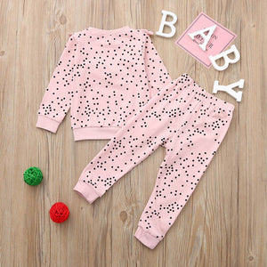 Winter Infant/Toddler Baby Girls Polka Dot  Christmas Outfit