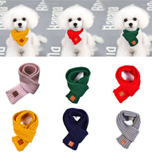 Load image into Gallery viewer, Pet Dog Cat Neck Scarf Warm Soft Knitting Scarf For Large Medium Dogs Winter Warmer Pet Accessories Dog Collar Pet Supply