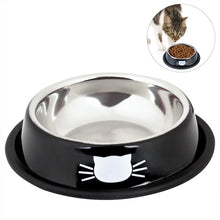 Load image into Gallery viewer, Stainless Steel Travel Bowls for Cats in various colors