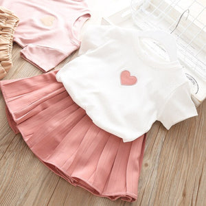 Sodawn Girls Clothing Set Baby Girls Clothes Summer New Stripe Design Tops+Pant  2Pcs Children Clothes Baby Clothes