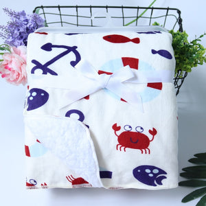 Double Layer Coral Fleece Baby Blanket: various colors