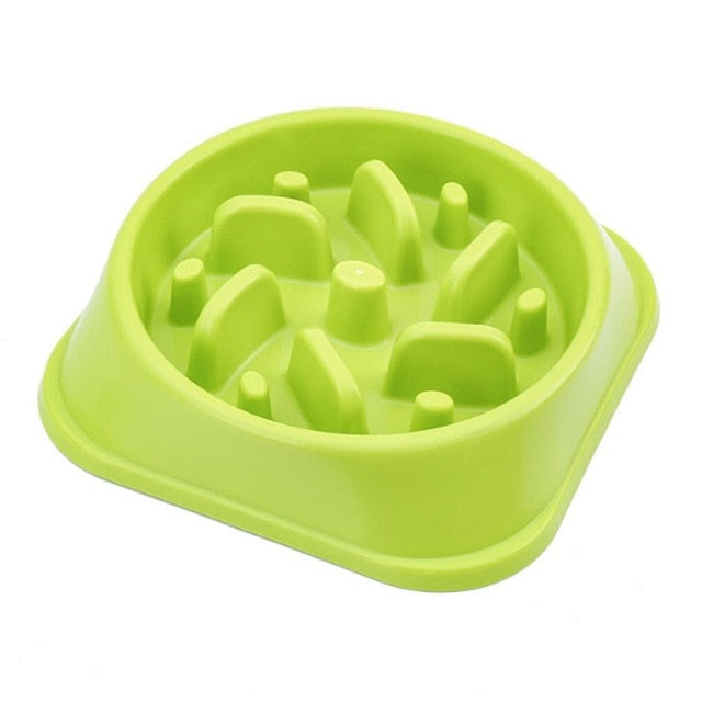 Nontoxic Fun Slow Feeder Dog Bowl Food Nonslip Pet Eat Slow Feeding Bowl Maze Interactive For Large Medium Small Dogs Dishes