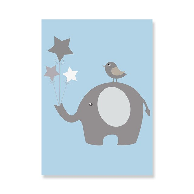Elephant StarCanvas Wall Printings:  Personalized Nursery Decor : 4 styles