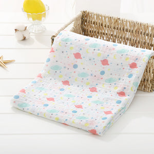 Soft Muslin 100% Cotton Baby Blanket Cute Cartoon Newborn Blankets Bath Gauze Infant Wrap Sleepsack Stroller Cover Play Mat