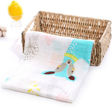 Load image into Gallery viewer, Soft Muslin 100% Cotton Baby Blanket Cute Cartoon Newborn Blankets Bath Gauze Infant Wrap Sleepsack Stroller Cover Play Mat