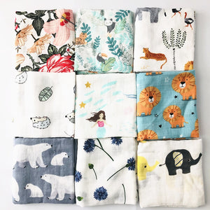 Organic Cotton Bamboo Baby Blanket 60cm-60cm  Comes in Various Styles