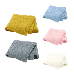Knitted Baby Blanket 100*80cm: 3 colors