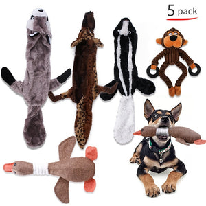 Squeaker Pull Toy: Various Animal Styles