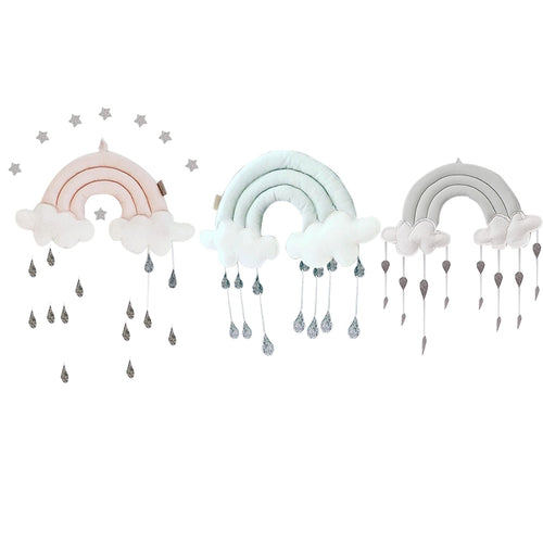Cloud Rainbow Raindrop Wall Decor or Crib Hanging  Ornament