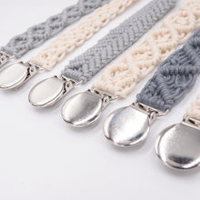 Load image into Gallery viewer, Baby Cotton Crochet Pacifier Clips
