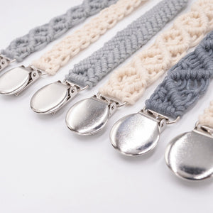 Baby Cotton Crochet Pacifier Clips