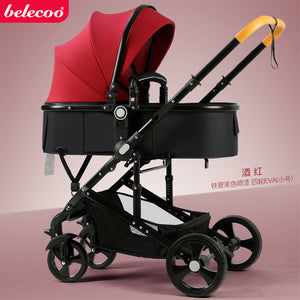 Belecoo Baby Folding Stroller: two-way four-wheel shock absorber+free shipping