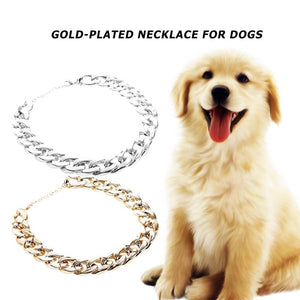 Pet Dog Necklace Excellent Plastic Gold-Plated Choker Collars Puppy Walking Leash Pets Supplies 100% Brand New Assurance