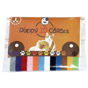 Pet identification collars for newborns and small animals