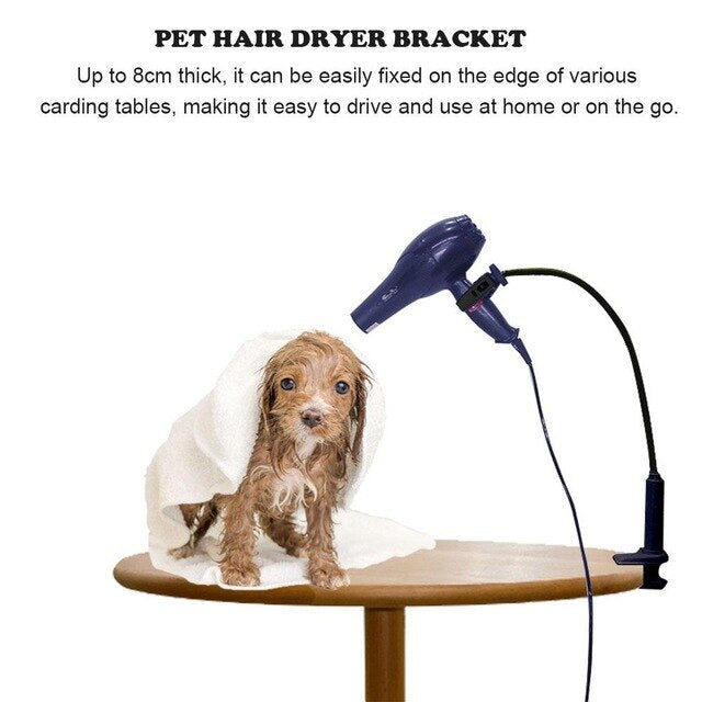 Pet Hair Dryer Bracket Shelf Rotatable Hands-Free Hair Dryer Beauty Table Holder Pet Grooming Cleaning Accessories Supplies New