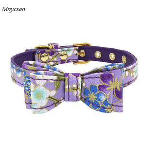 New Quality Adjustable Printed Bowknot Collar: Great for Cats/Kittens/Dogs/Puppies  XS-L