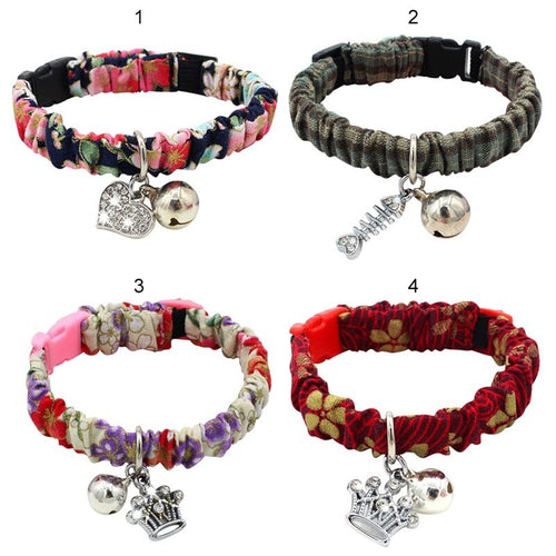 New Handmade Adjustable Collars with Bell for Cats  Various colors and accessories