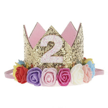 Load image into Gallery viewer, Rose Flower Crown Headband for Kids Birthday/ Photo Prop Hair Accessories
