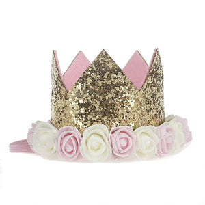 Rose Flower Crown Headband for Kids Birthday/ Photo Prop Hair Accessories