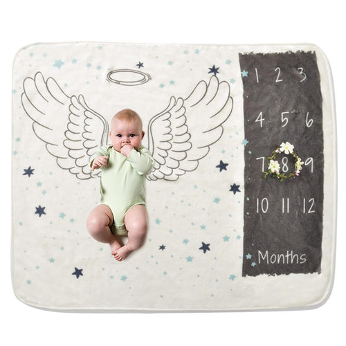 Monthly Growth Milestone Background Cloth Blanket  Marks first 18mo.